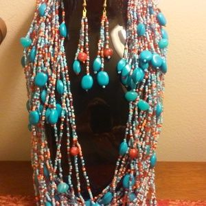 Gorgeous Bohemian Necklace with Matching Earrings